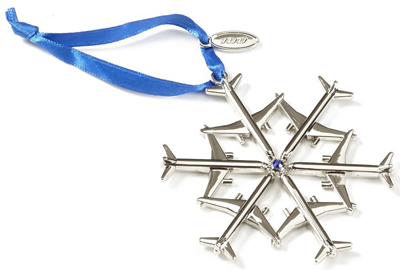 Waterford Jet Snowflake Nickel-Plated Ornament