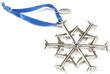 Waterford Jet Snowflake Nickel-Plated Ornament