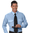 Van Heusen Aviator Shirt - Men's Long Sleeve - BLUE