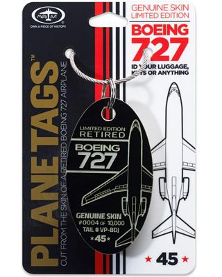 Genuine Trump Boeing 727 PlaneTag