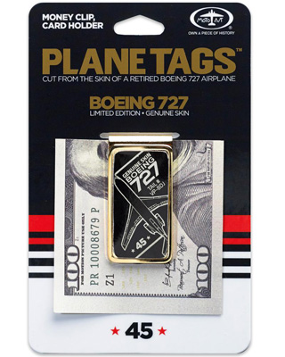 Genuine Trump Boeing 727 Money Clip