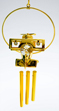 Gold Airplane with Crystals Wind Chime