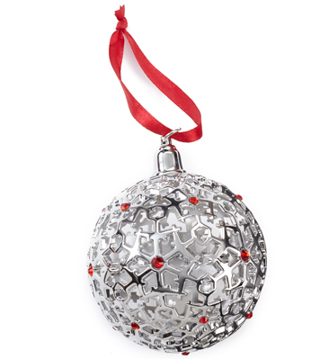 Jet Snowflake Ornament - Ball