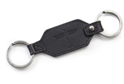 Boeing Totem Leather Key Fob - Black