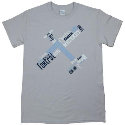 Phonetic Pilot T-Shirt - Ice Grey