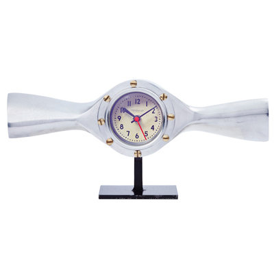 Aluminum Propeller Table Clock