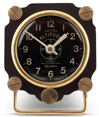 Altimeter Table Clock - Black