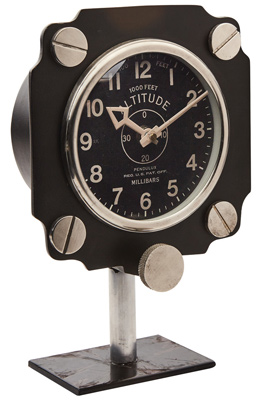 Altimeter Mantel Clock - Black