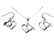 High Wing Heart Necklace & Earrings - Sterling Silver