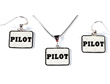 Pilot Necklace & Earrings - Sterling Silver