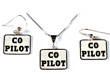 Co-Pilot Necklace & Earrings - Sterling Silver