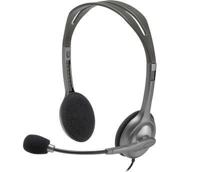 Logitech Stereo Computer Headset w/Boom Microphone for Comm1