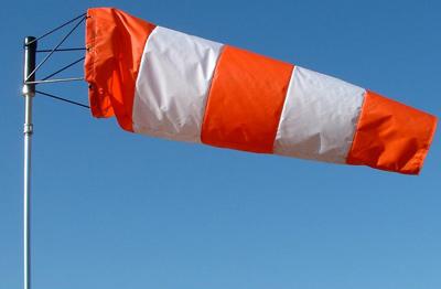 Airport Windsock - Orange & White