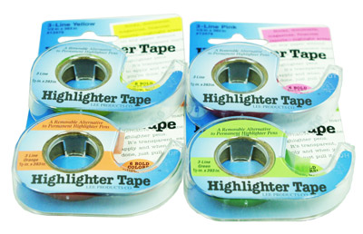 Chart Highlighter Tape - 4 Rolls