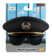 Sun-staches Pilot Cap and Sunglasses