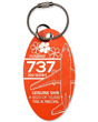 Genuine Aloha Airlines Boeing 737-200 Plane Tag - Tail #N823AL