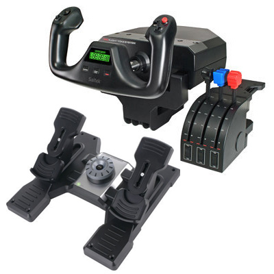 Logitech G Saitek Pro Flight Yoke, Throttle, and Rudders Bundle