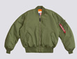 Alpha MA-1 Blood Chit Nylon Flight Jacket - Sage Green