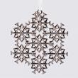 Jet Snowflake Ornament - Flat