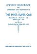 Piper PA-18-125 & PA-18A-125 Super Cub Owner's Manual (752-398B)