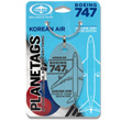 Genuine Boeing 747-400 PlaneTag from Korean Air Luxuy Liner HL7495