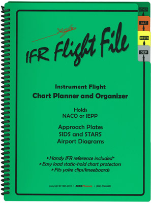 IFR Flight File Chart Planner and Organizer