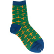 Airplane Socks for Kids / Youth - Orange on Green