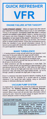 Quick Refresher Card - VFR