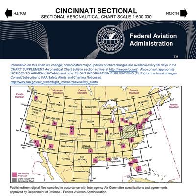 VFR: CINCINNATI Sectional Chart