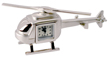 Brushed Chrome Helicopter Clock