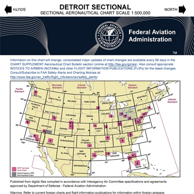 VFR: DETROIT Sectional Chart