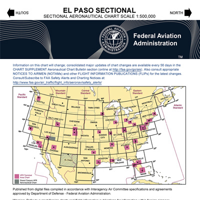 VFR: EL PASO Sectional Chart