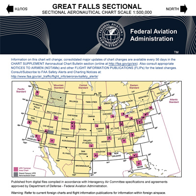 VFR: GREAT FALLS Sectional Chart
