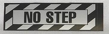 NO STEP Airframe Placard