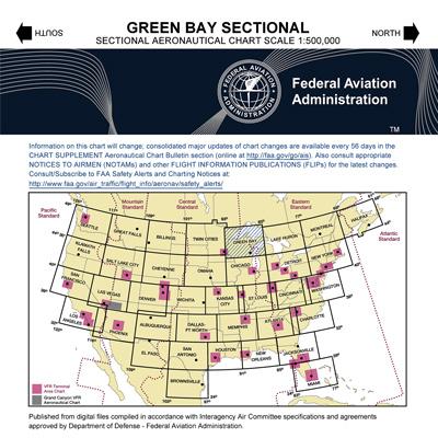 VFR: GREEN BAY Sectional Chart