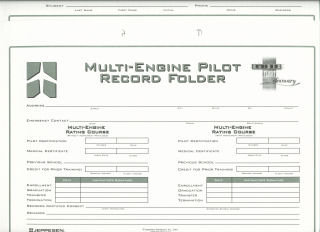 Jeppesen GFD Multi-Engine Record Folder