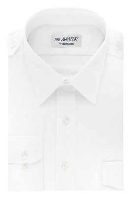 Van Heusen Aviator Shirt- Men's Short Sleeve