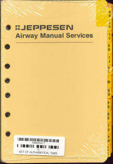 Jeppesen Index Tabs - Alphabetical Tabs