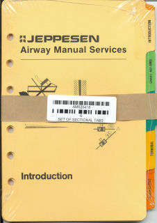 Jeppesen Index Tabs - Sectional Tabs