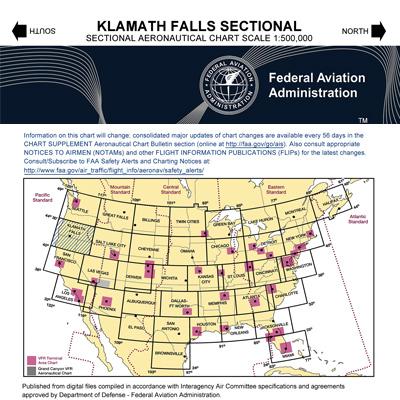 VFR: KLAMATH FALLS Sectional Chart