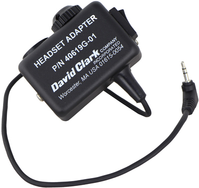 David Clark Headset Adapter with 2.5mm plug