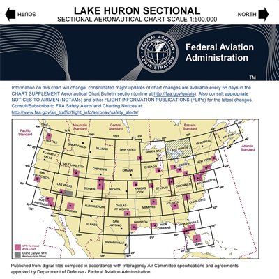 VFR: LAKE HURON Sectional Chart