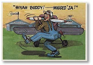 Hiyah Buddy Aviation Greeting Card