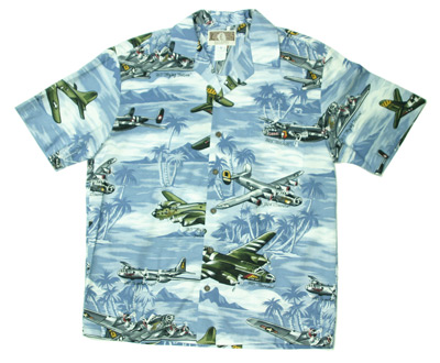 2cf2b49a7 Lagoon Blue Hawaiian Airplane Shirt - MyPilotStore.com