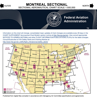 VFR: MONTREAL Sectional Chart
