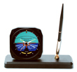 Horizon Desk Model Alarm Clock/Pen Set