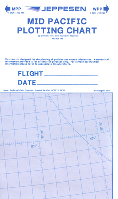 Jeppesen Mid and West Pacific Plotting Chart