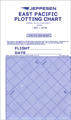 Jeppesen East Pacific Plotting Chart