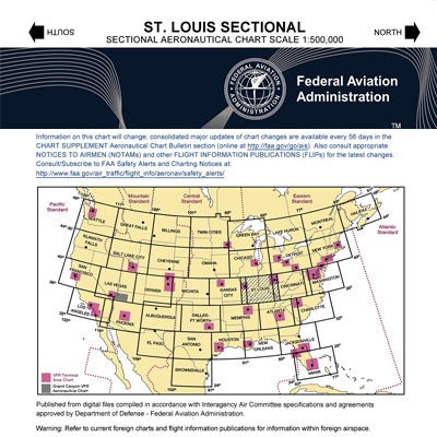VFR: ST. LOUIS Sectional Chart