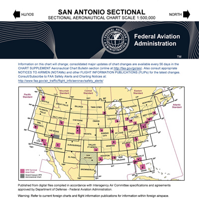 VFR: SAN ANTONIO Sectional Chart